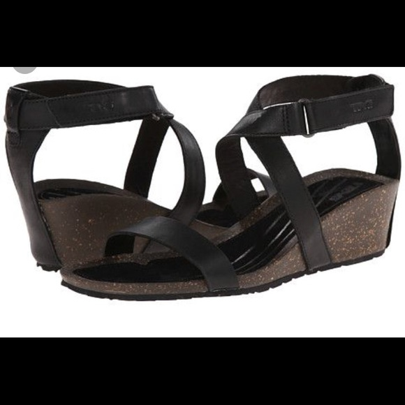bf346f730026 TEVA Cabrillo Crossover Ankle Wedge Sandal. M 5b19727a3e0caaad584c01a6